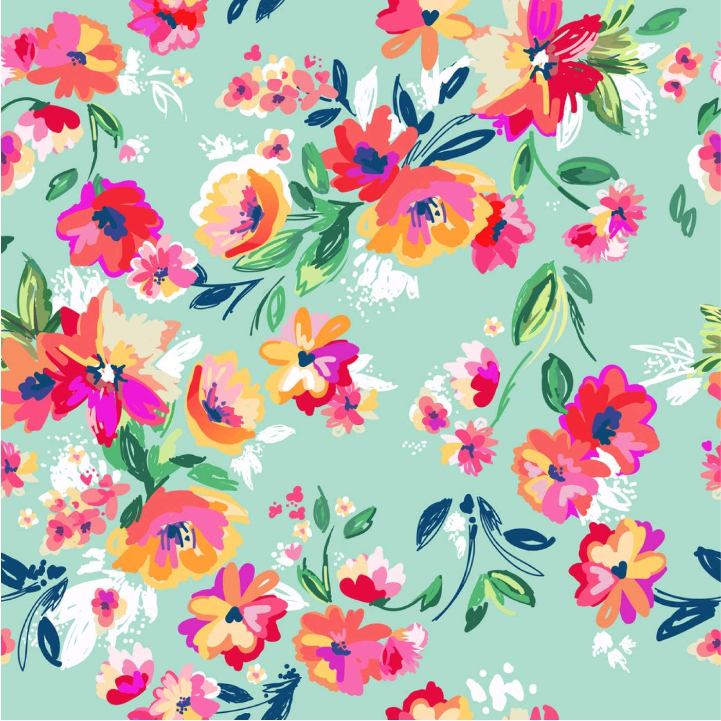 Amazon Com Colorful Flower Pattern Illustration A 9008856 88x88