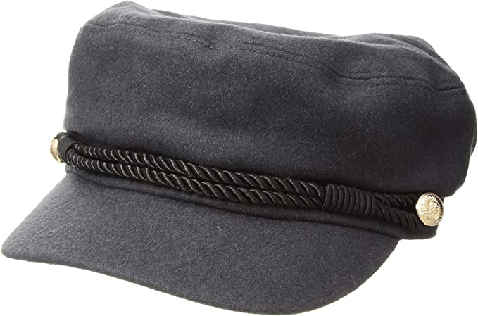 Hat Attack Women s Emmy Cadet Cap w Interchangeable Rope Band Charcoal One  Size 03012600490