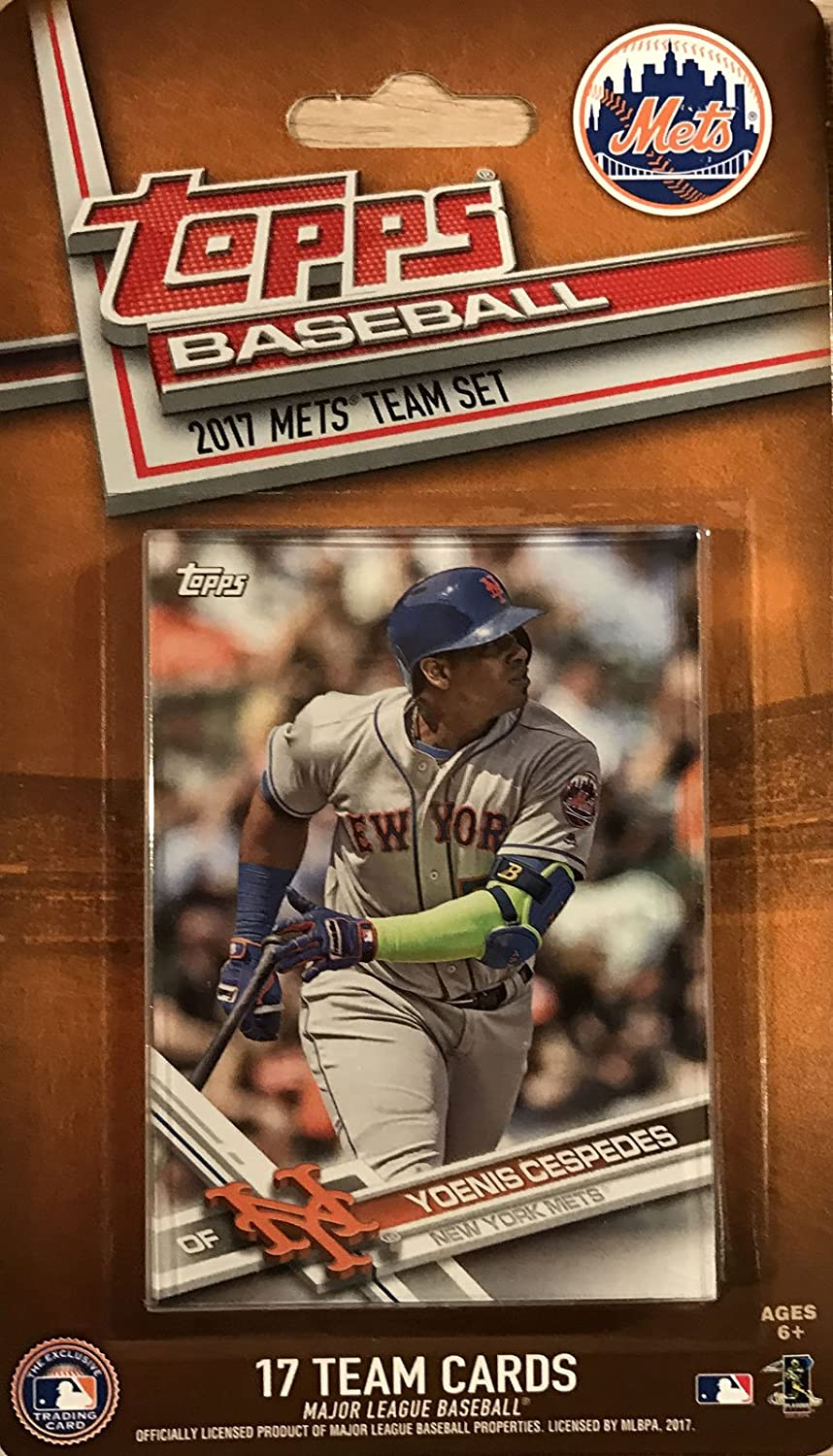 New York Mets 2017 Topps Factory Sealed Special Edition 17 Card Team Set with David Wright Matt Harvey and Yoenis Cespedes Plus
