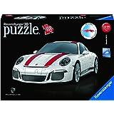 "Ravensburger Porsche 911 R - 12528 - 108 Piece 3D Jigsaw Puzzle, White, 10"" x 4"" x 2.75"""