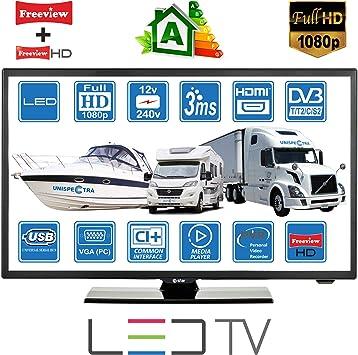 Televisor digital digital DVB-T2/C/S2 TNT HD, 12 V, 220 V, USB ...