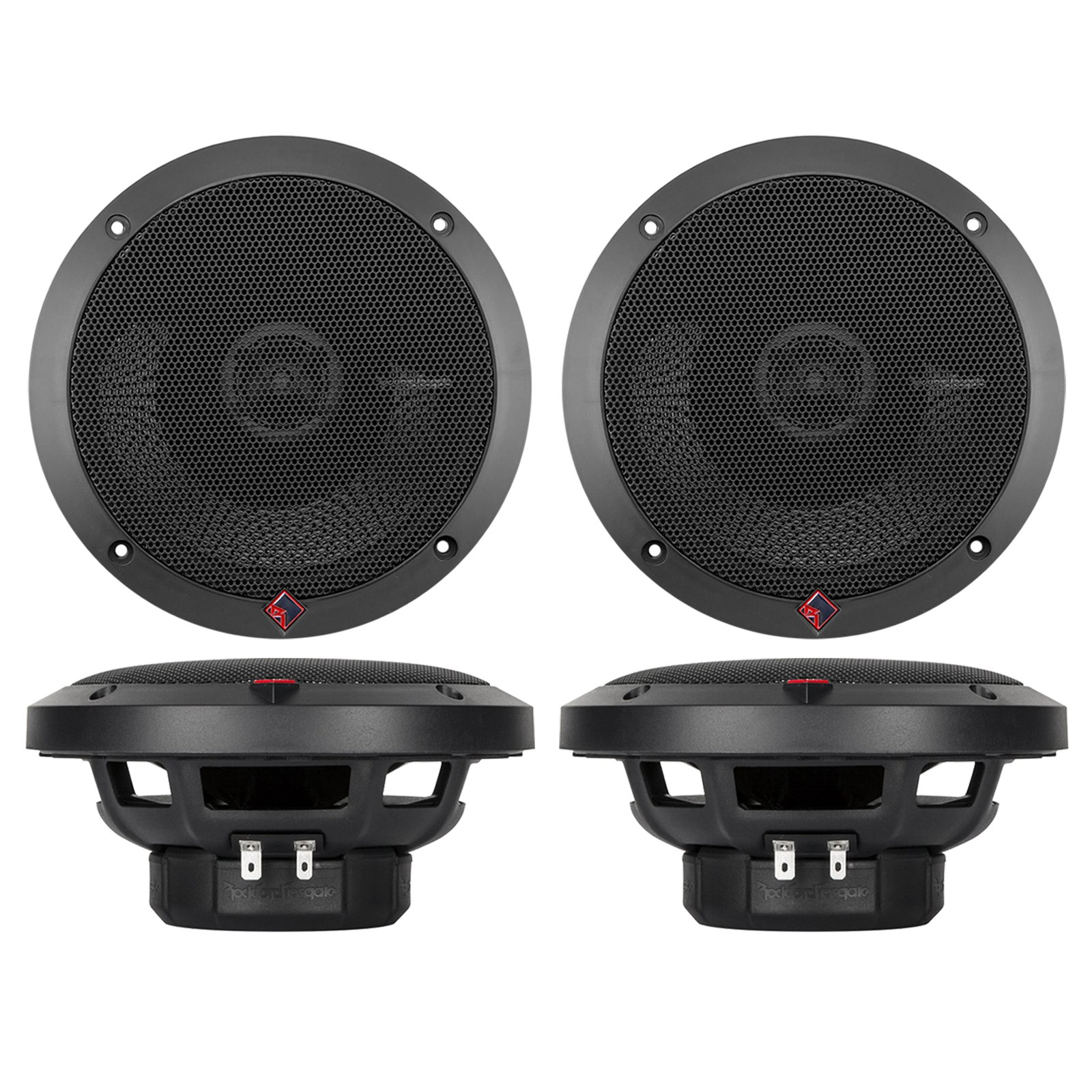 4) NEW Rockford Fosgate P1650 6.5'' 2-Way Full Range Car Audio Coaxial Speakers
