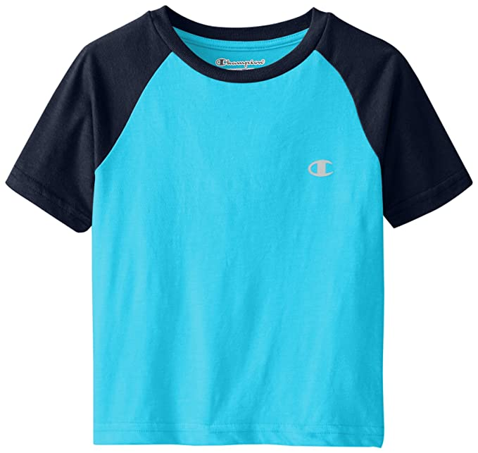 7902a4944 Champion Big Boys' Performance Short Raglan-Sleeve T-Shirt, Atomic Blue,