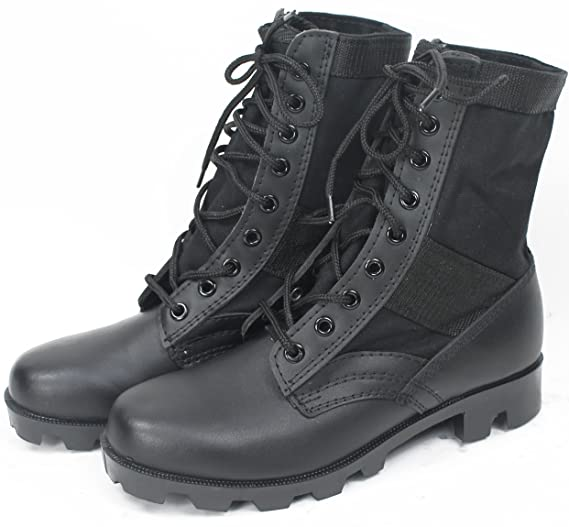 6a675b97b04 Tactical Jungle Boots with Panama Sole 8 in, Military GI Type Vietnam  Combat Army, Leather/Canvas