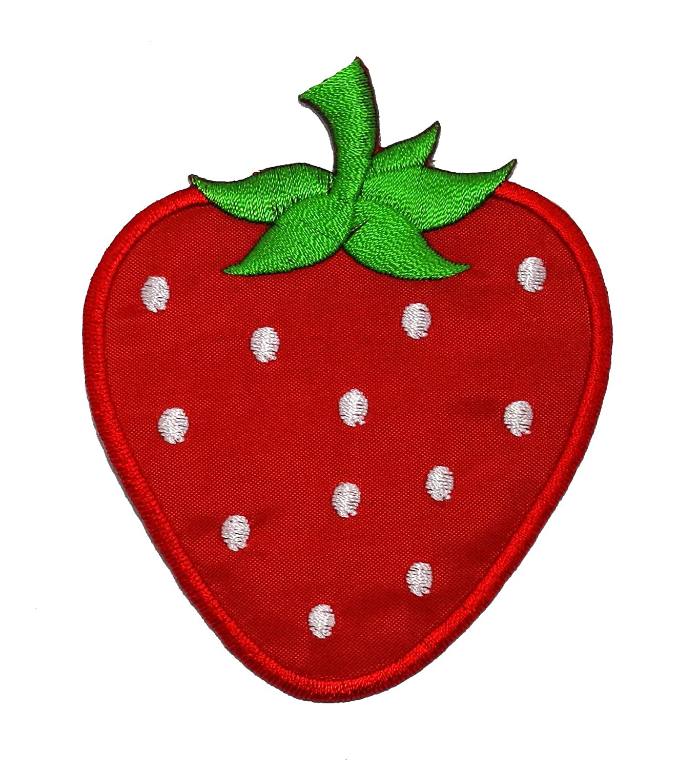 Strawberry iron on patch / vegan / patches / food / embroidery | etsy.