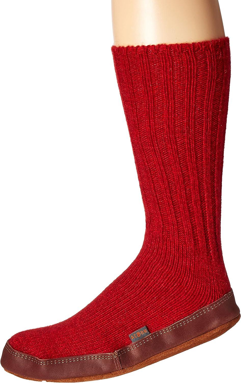 Acorn Unisex Original Slipper Sock, Flexible Cloud Cushion Footbed with a Suede Sole, Mid-Calf length