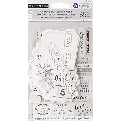 Prima Marketing 631826 Pretty Pale Ephemera Cardstock & Sticker Sheet 65/Pkg: Arts, Crafts & Sewing