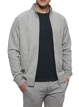 YTWOO Herren Sweatshirt Jacke mit Reißverschluss aus Bio-Baumwolle-Mix mit  85% Bio 4daaaced98