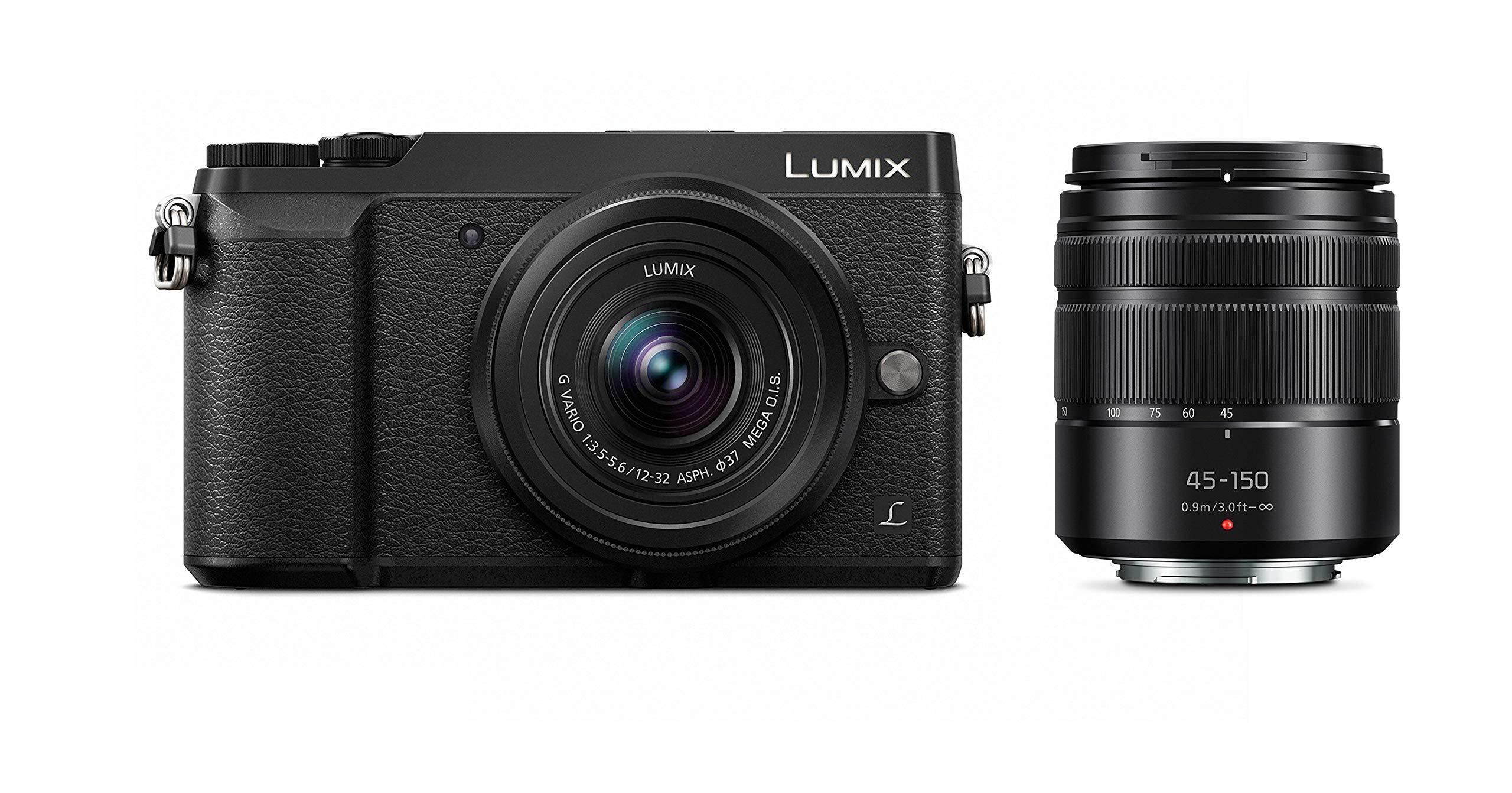 PANASONIC LUMIX GX85 4K Digital Camera, 12-32mm and 45-150mm Lens Bundle, 16 Megapixel Mirrorless Camera Kit, 5 Axis in-Body Dual Image Stabilization, 3-Inch Tilt and Touch LCD, DMC-GX85WK (Black) by Panasonic