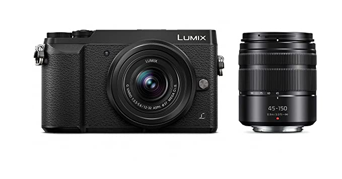PANASONIC LUMIX GX85 Camera with 12-32mm and 45-150mm Lens Bundle, 4K, 5 Axis Body Stabilization, 3 Inch Tilt and Touch Display, DMC-GX85WK (Black USA) Digital Cameras at amazon