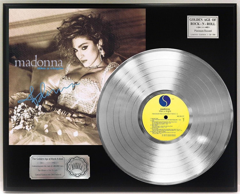 Madonna Like A Virgin Platinum Lp Signature Display C3