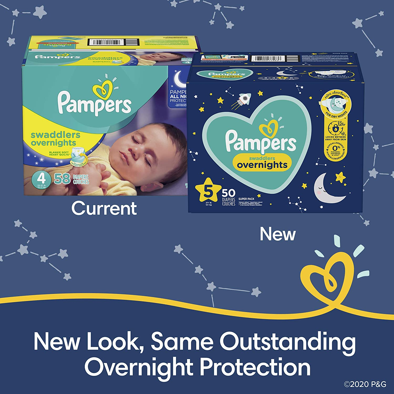 Pampers Overnight Swaddlers
