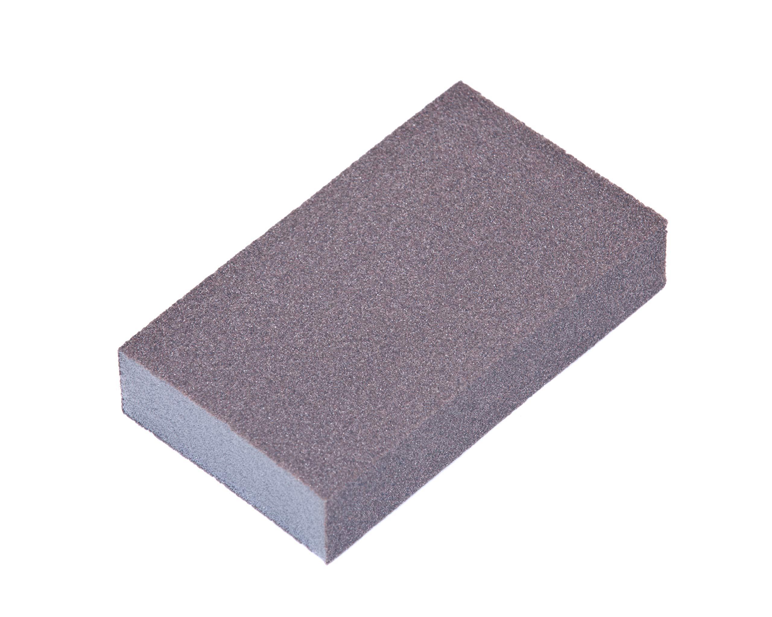 Stac Industrial 3'' x 4'' x 1/2'' 2-Sided Sealer Sanding Sponge - 130 Pieces Per Box