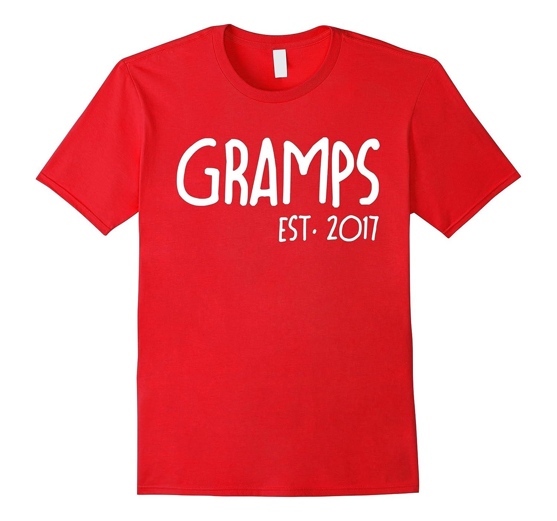 Gramps Est. 2017 Father Grandpa T shirt-T-Shirt