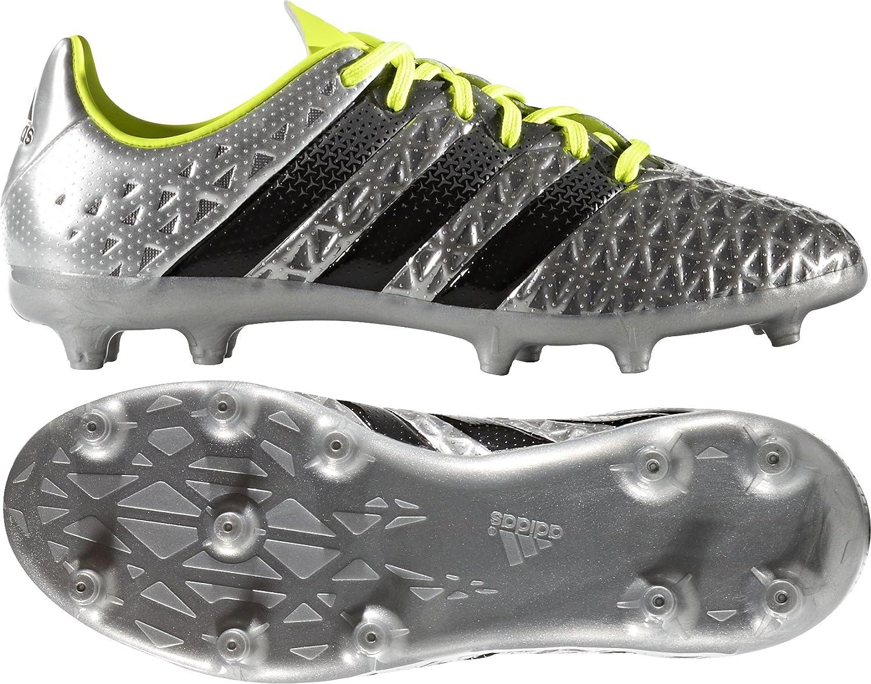 Adidas Ace 16,1 Festen Boden, Junior Fußball Stiefel – silver-13 J