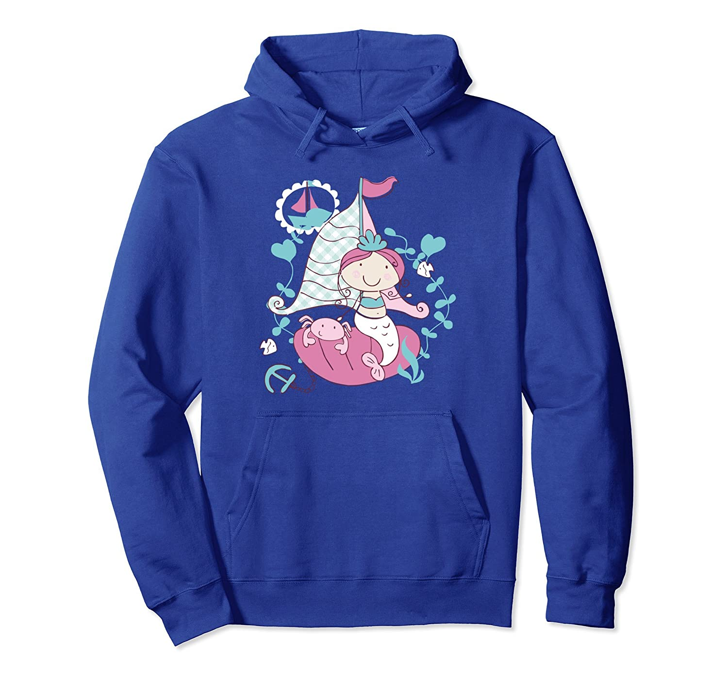 Lovely Mermaid Sailing Boat Adventure T-Shirt Hoodie-AZP