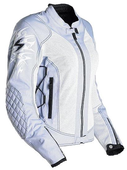 Scorpion ExoWear Nip Tuck Baby Blue Medium Womens Motorcycle Jacket