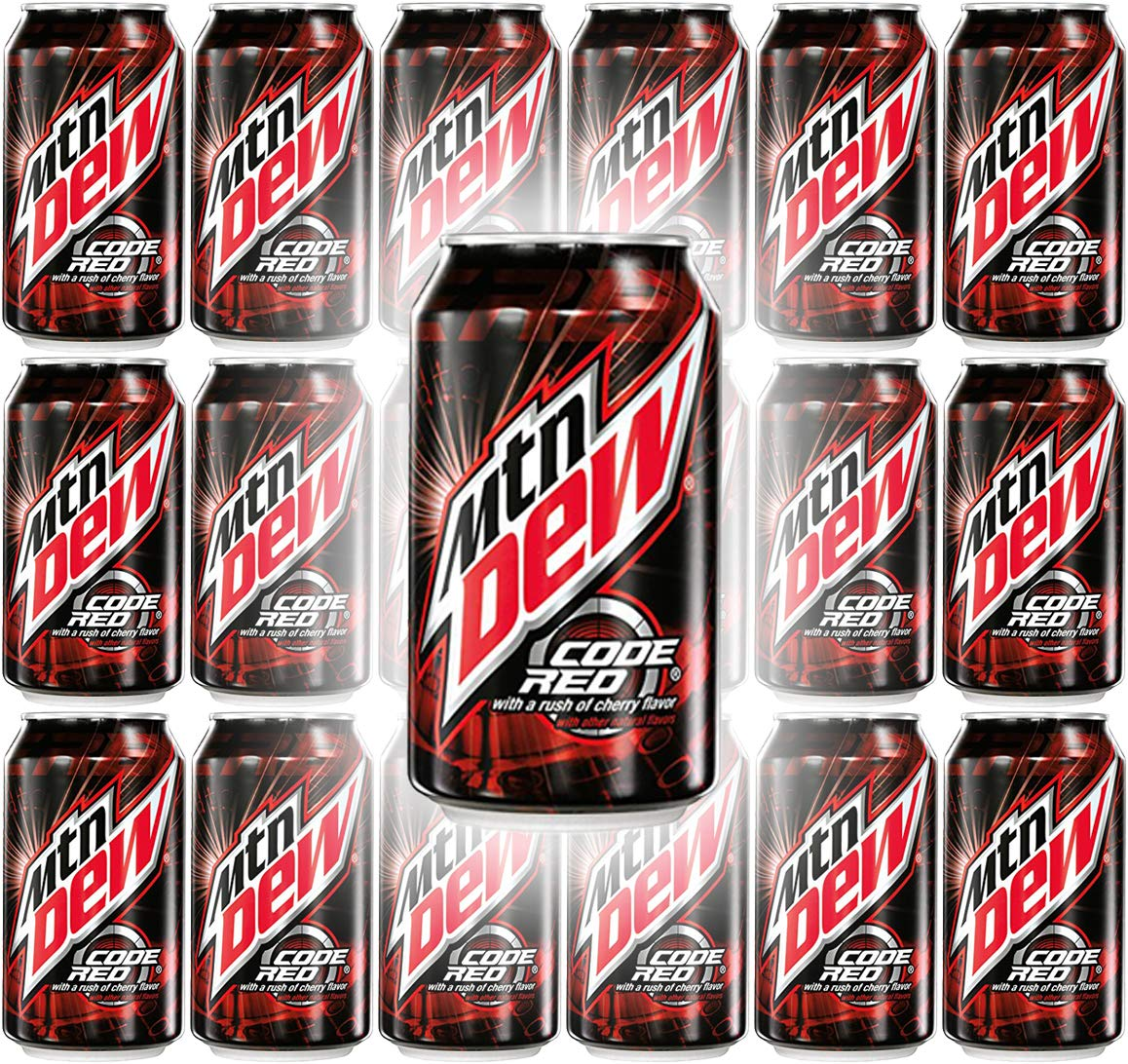 Mountain Dew Code Red, 12oz Can (Pack of 18, Total of 216 Fl Oz)