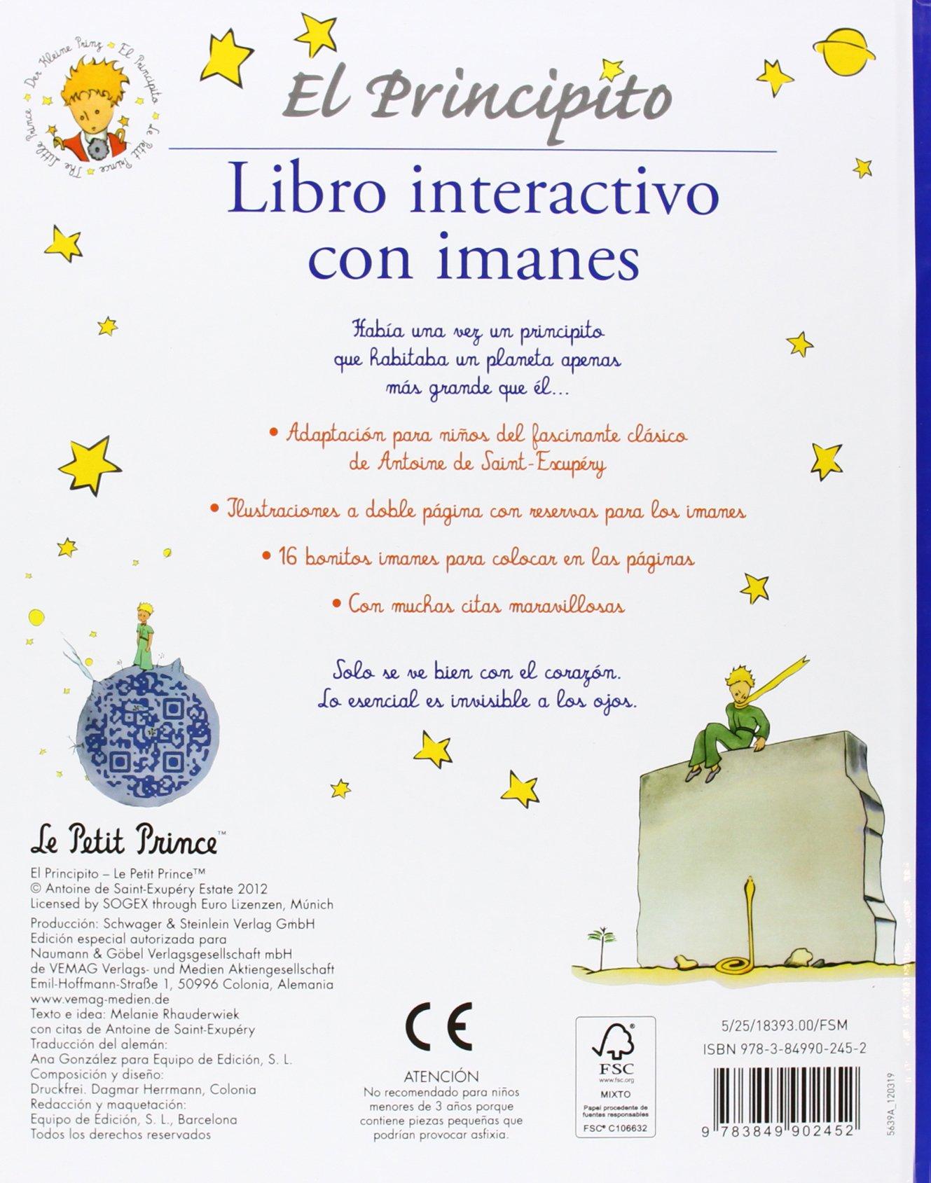 PRINCIPITO, EL (LIBRO CON IMANES)N.E.: EDITORIAL DE VECCHI S.A DE C.V: 9783849902452: Amazon.com: Books
