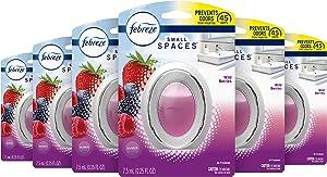 Febreze Small Spaces Air Freshener, Odor Eliminator, Wild Berries (Pack of 6)