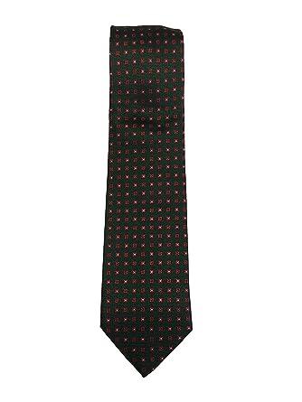 tombolini men s designer neck tie design print green red at amazon