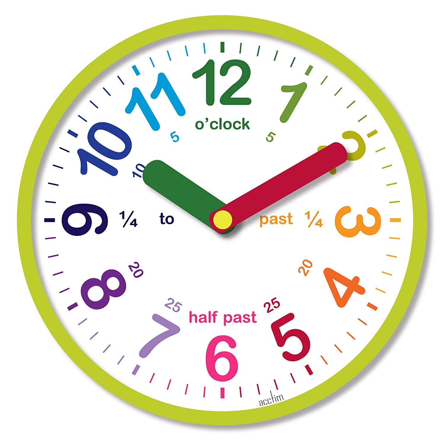 Acctim 21885 lulu wall clock green amazon kitchen home amipublicfo Image collections
