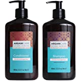 Arganicare Shampoo and Conditioner for Dry Hair Enriched with Organic Argan Oil and Shea Butter - Value Pack (13.5 Fluid Ounce Each)