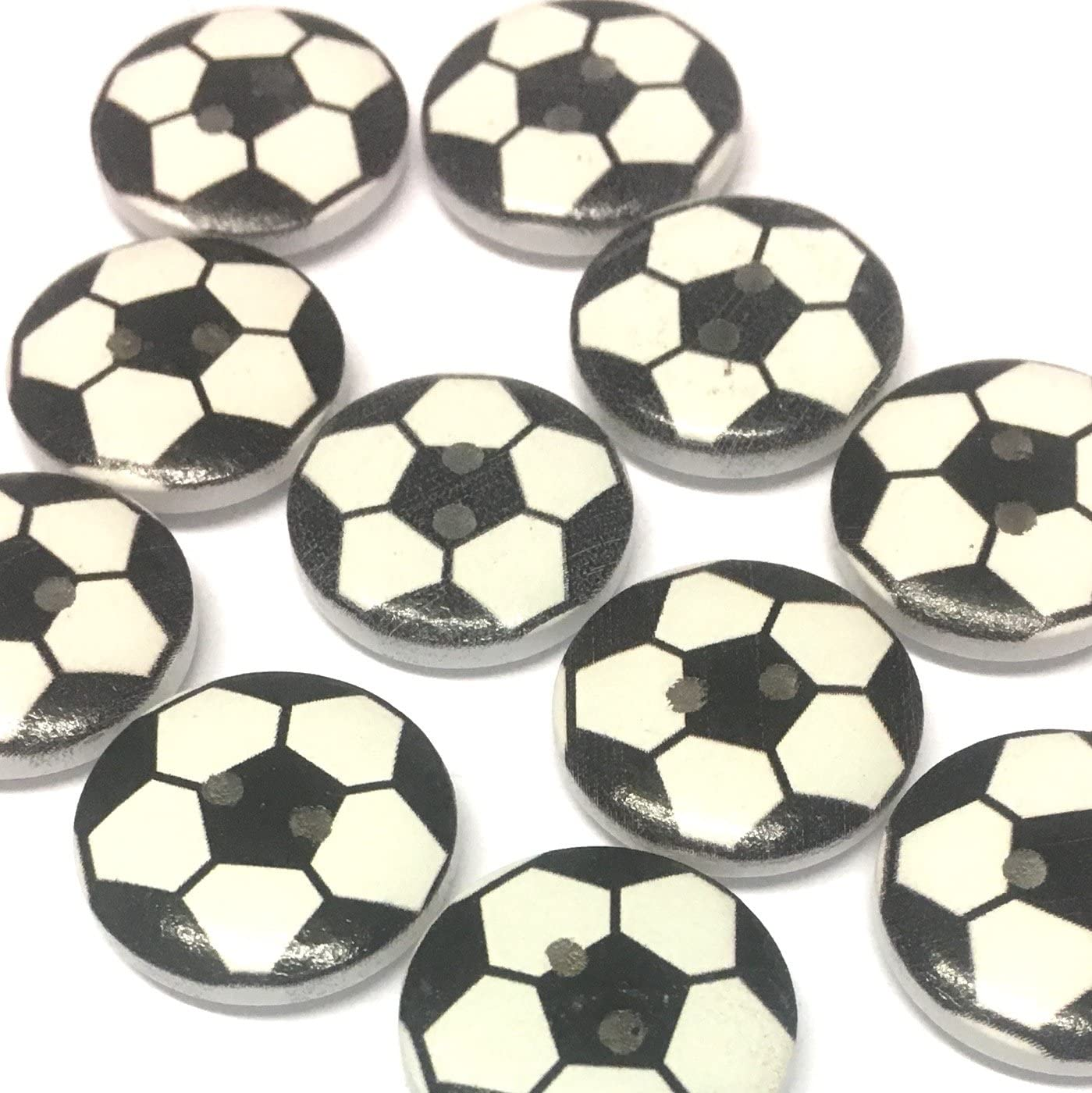 Botones de futbolín de madera blanco y negro de 10 x 20 mm: Amazon ...