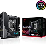 ASUS ROG Strix Z490-I Gaming Z490 (WiFi 6) LGA 1200 (Intel 10th Gen) Mini-ITX Gaming Motherboard 8+2 Power Stages, DDR4 4800,