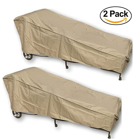 SUNMART 2 Patio Chaise Covers   Protect Your Furniture From UV Mildew Mold  Water Damage With