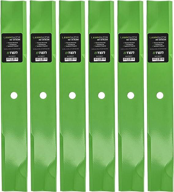 8TEN LawnRAZOR Hi Lift Blade for Ferris 52 Inch Mower Deck IS500Z IS1500Z IS2500Z 1000Z CCWKAV2152 5021227S 6 Pack