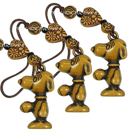ChicEver 3 x Amuleto Snoopy de Resina, de Telefono, Bolsa ...