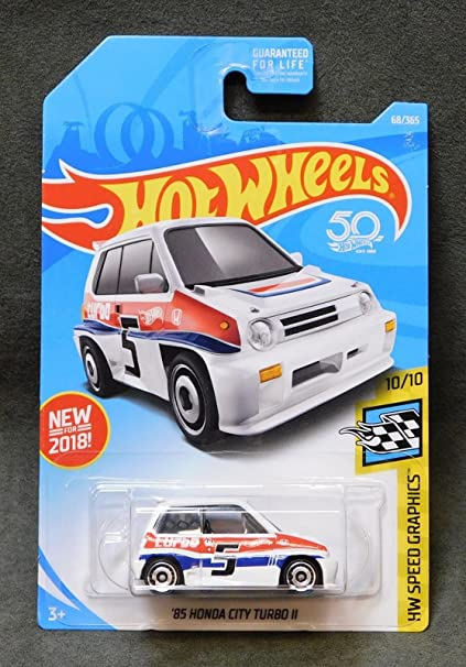 Amazon.com : HOT WHEELS 85 HONDA CITY TURBO II 50 YR HOT WHEELS 68/365 HW SPEED GRAPHICS : Everything Else