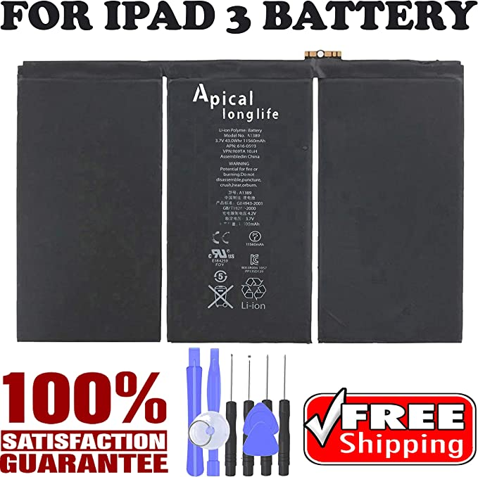 OEM Replacement Battery For iPad 3 4 A1389 616-0591 616-0592 A1460 A1459 A1458
