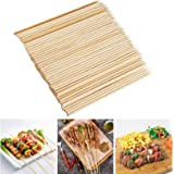 Fu Store Bamboo Skewers, 8 Inch Bamboo Sticks Shish Kabob Skewers,Grill, Appetizer, Fruit, Corn, Chocolate Fountain, Cocktail