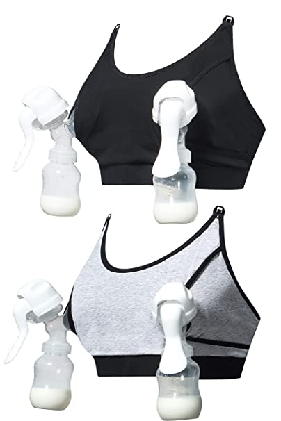 953faa6067a32 HOFISH Women s Wireless Maternity Hands Free Strapless Pumping Bra Accessory