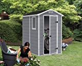 KETER Manor 4x6 Resin Outdoor Shed Kit for