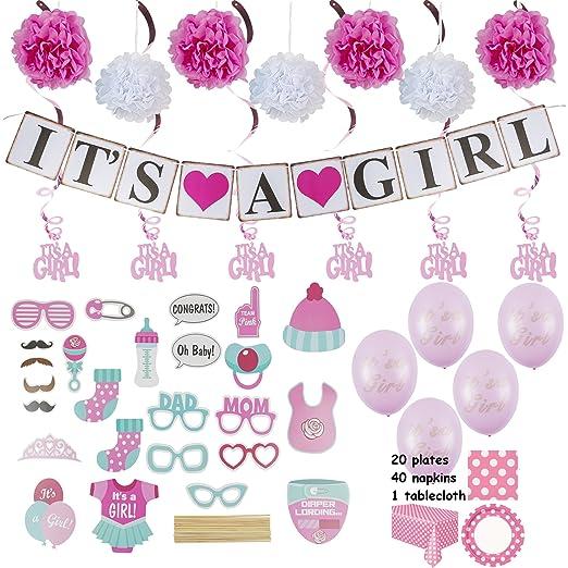 Amazon.com: Baby Shower decoración, Niña: Health & Personal Care