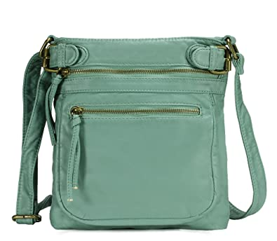 Scarleton Tri Zip Belt Accent Crossbody Bag H198453 - Mint  Handbags ... 473d1d5870c93
