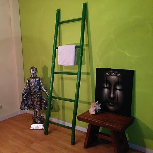 Bambú Escalera Flores Verde Ropa Escalera bambú Escalera bambú Muebles Tendedero: Amazon.es: Hogar