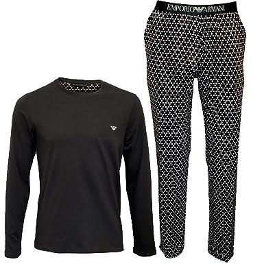 764848c235234 Emporio Armani Pyjama Homme, Long, uni avec Motif, S-XL - Gris Bordo ...