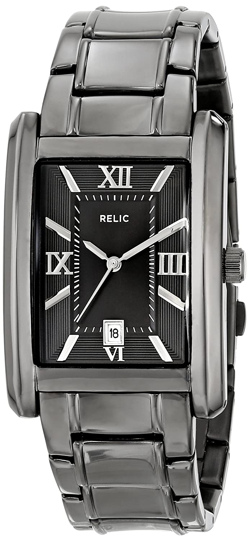 Amazon.com: Relic Mens ZR77109 Allen Gunmetal-Tone Stainless Steel Watch: Watches