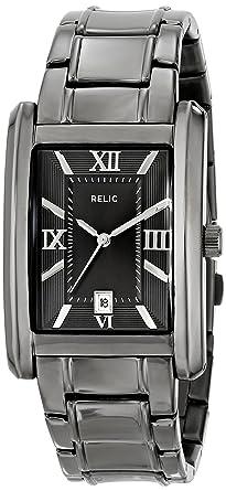 Relic Mens ZR77109 Allen Gunmetal-Tone Stainless Steel Watch