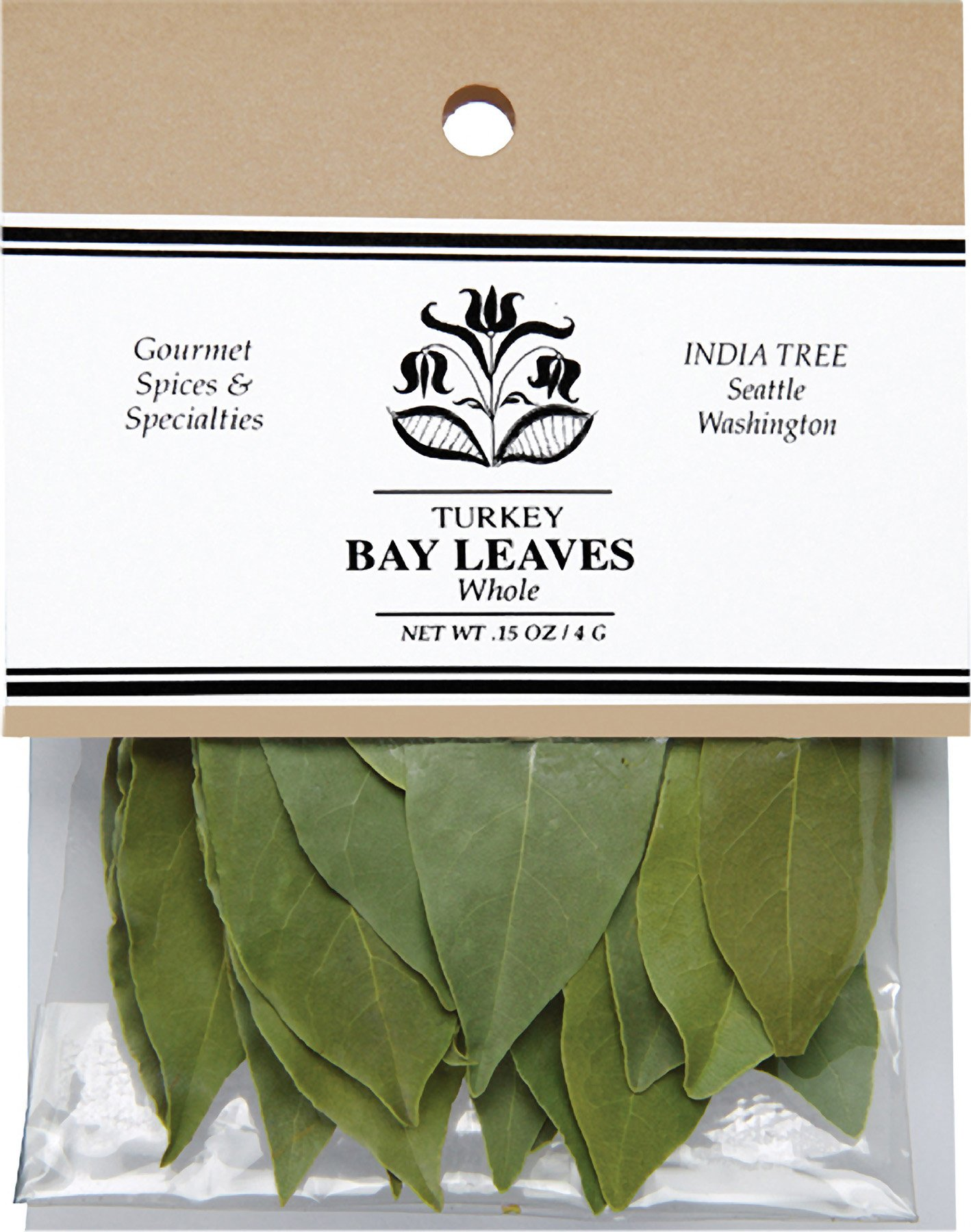 India Tree Bay Leaves, 0.15 oz (Pack of 4)