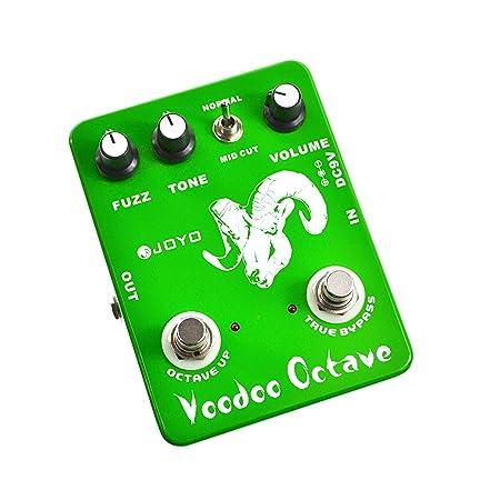 Joyo Ultimate Octave Fuzz - Pedal multiefectos para guitarra (distorsión, fuzz, batería zinc carbono), verde: Amazon.es: Instrumentos musicales