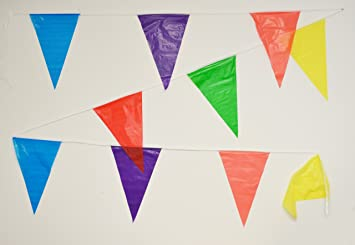 Amazon.com: 100 Foot Multicolor Pennant Banner: Toys & Games