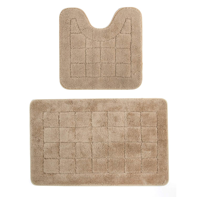 Bath Rug 50x80 cm in 4 Colours 100/% Cotton two tone Chenille Loop Bath Mat
