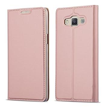 Cadorabo Funda Libro para Samsung Galaxy A3 2015 en Classy Oro Rosa – Cubierta Proteccíon con Cierre Magnético, Tarjetero y Función de Suporte – Etui ...