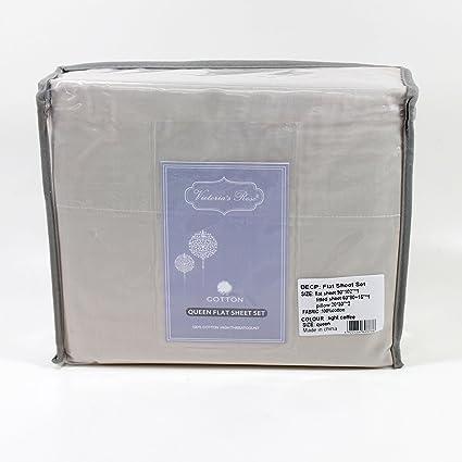 Premium 100% algodón 4 piezas Juego de ropa de cama: 1 sábana bajera ajustable