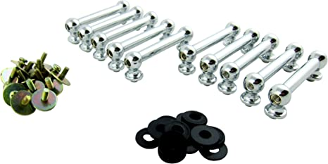 55.56mm Goedrum 10 Double End Drum Tube Lugs without Mounting Screws Black Nickel